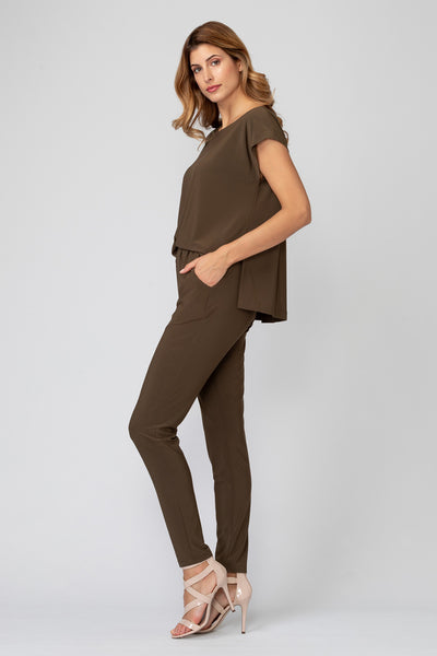 Joseph-Ribkoff-open-drape-back-jumpsuit-safari-side-view