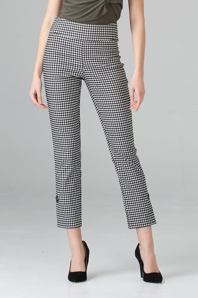 Joseph-Ribkoff-black-white-check-ankle-pant