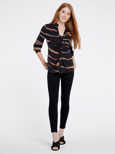 Nic-&-Zoe-animal-print-twist-petite-blouse-with pant