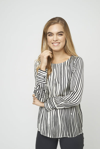 Soya-Concept-gina-striped-blouse-front