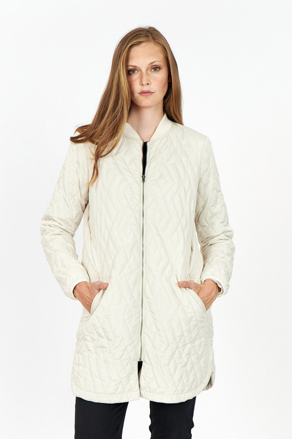 Soya-Concept-ivory-quilted-knee-length-jacket
