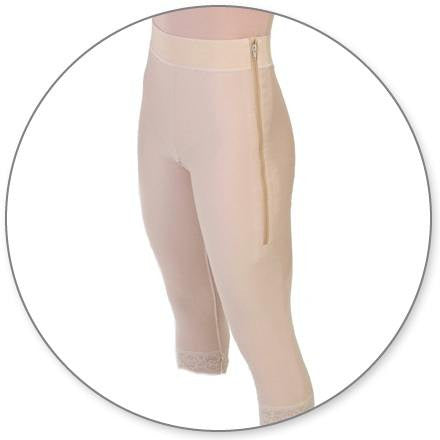 Style 1 - MidCalf Girdle 2in Waist Open Crotch by Contour