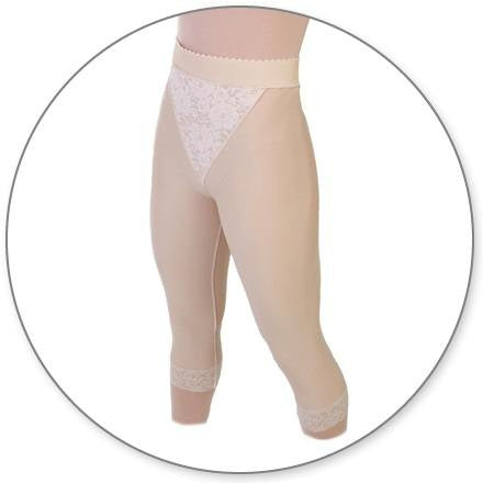 Style 15 - Slip On Mid Calf Girdle Closed Crotch by Contour