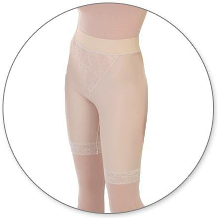 Style 15MT - Slip On Mid Thigh Girdle Open Crotch by Contour