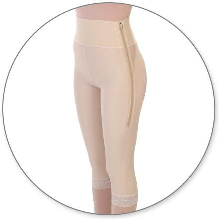 Style 2 - Mid Calf Girdle 4in Waist Open Crotch by Contour