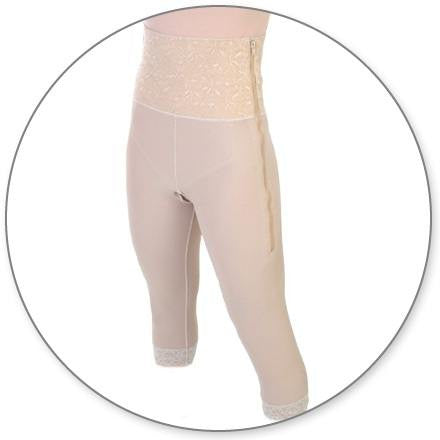 Style 26 - Mid Calf Girdle 6in Waist Open Crotch