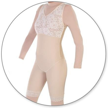 Style 27Z - Mid Thigh Body Shaper w/ Side Zippers by Contour