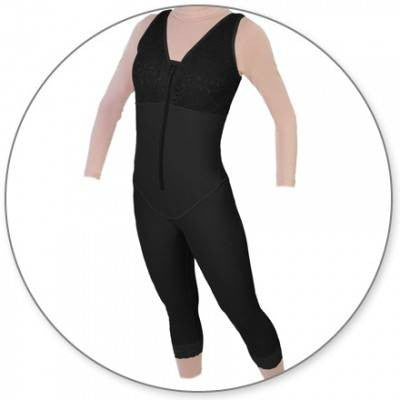 Style 28 - Mid Calf Body Shaper Slit Crotch by Contour