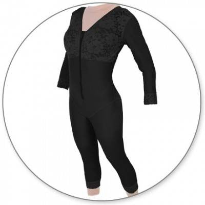 566702aebb4 Style 28S - Mid Calf Body Shaper with Sleeves by Contour - DirectDermaCare
