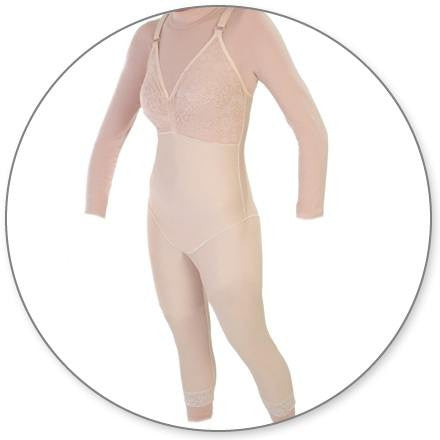 Style 28NZ - Mid Calf Body Shaper Without Zippers by Contour