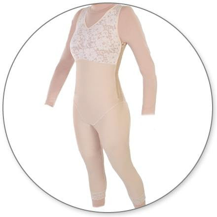 Style 28Z - Mid Calf Body Shaper Side Zippers by Contour