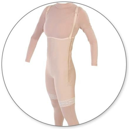 Style 34Z - Mid Thigh Body Garment Side Zippers Open Crotch