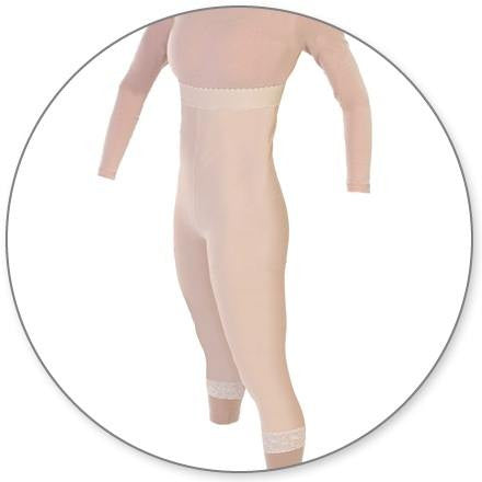 Style 39 - Mid Calf Underbust Pull On Open Crotch by Contour