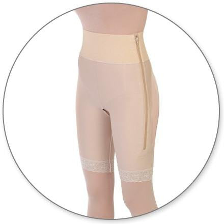Style 4 - Mid Thigh Girdle 4in Waist Open Crotch