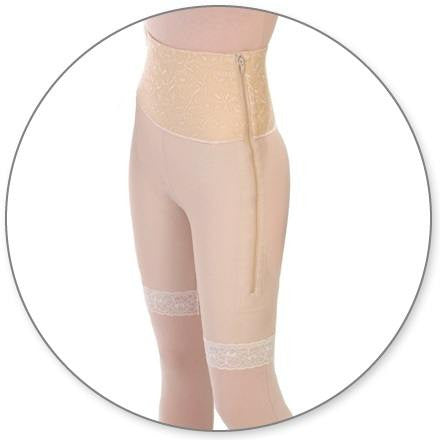 Style 46 Mid Thigh Girdle 6in Waist Open Crotch by Contour
