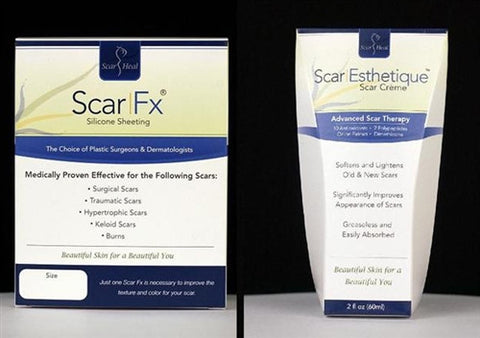 "Scar Fx Silicone Sheet 1.5"" x 5"" and Scar Esthetique Cream Kit"