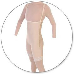 Style 34FLZ Mid Thigh Body Garment Full Zippers Open Crotch