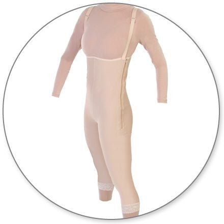 Style 35Z - Mid Calf Body Garment Side Zippers Open Crotch