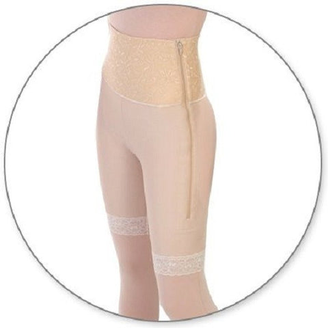 Style 46 - Mid Thigh Girdle 6in Waist Slit Crotch by Contour