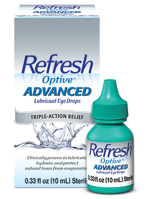 Refresh Optive Advanced Lubricant Eye Drops 10 ml