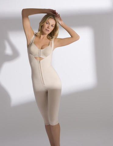 Full Body Below the Knee Girdle - Zip Front - Annette Renolife - Style S-131PAF