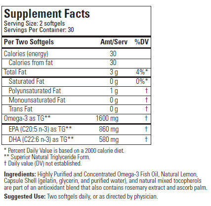 Fortifeye super omega 3 fish oil directdermacare for Fish oil nutrition facts