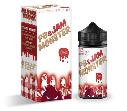 Peanut Butter & Jam Strawberry jam monster 100ml