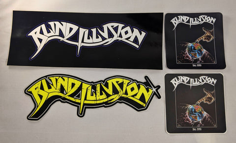 Blind Illusion Sticker Pack + Magnet