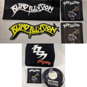 Blind Illusion Bundle with Wristband + Sticker Pack + Pin Pack