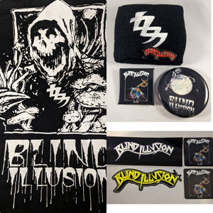 Blind Illusion Bundle with Cry for the Banshee Shirt + sticker + Pin + wristband