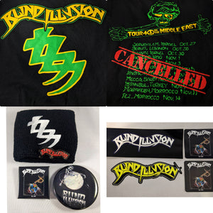 Blind Illusion Bundle with Middle East Tour Shirt + sticker + Pin + wristband