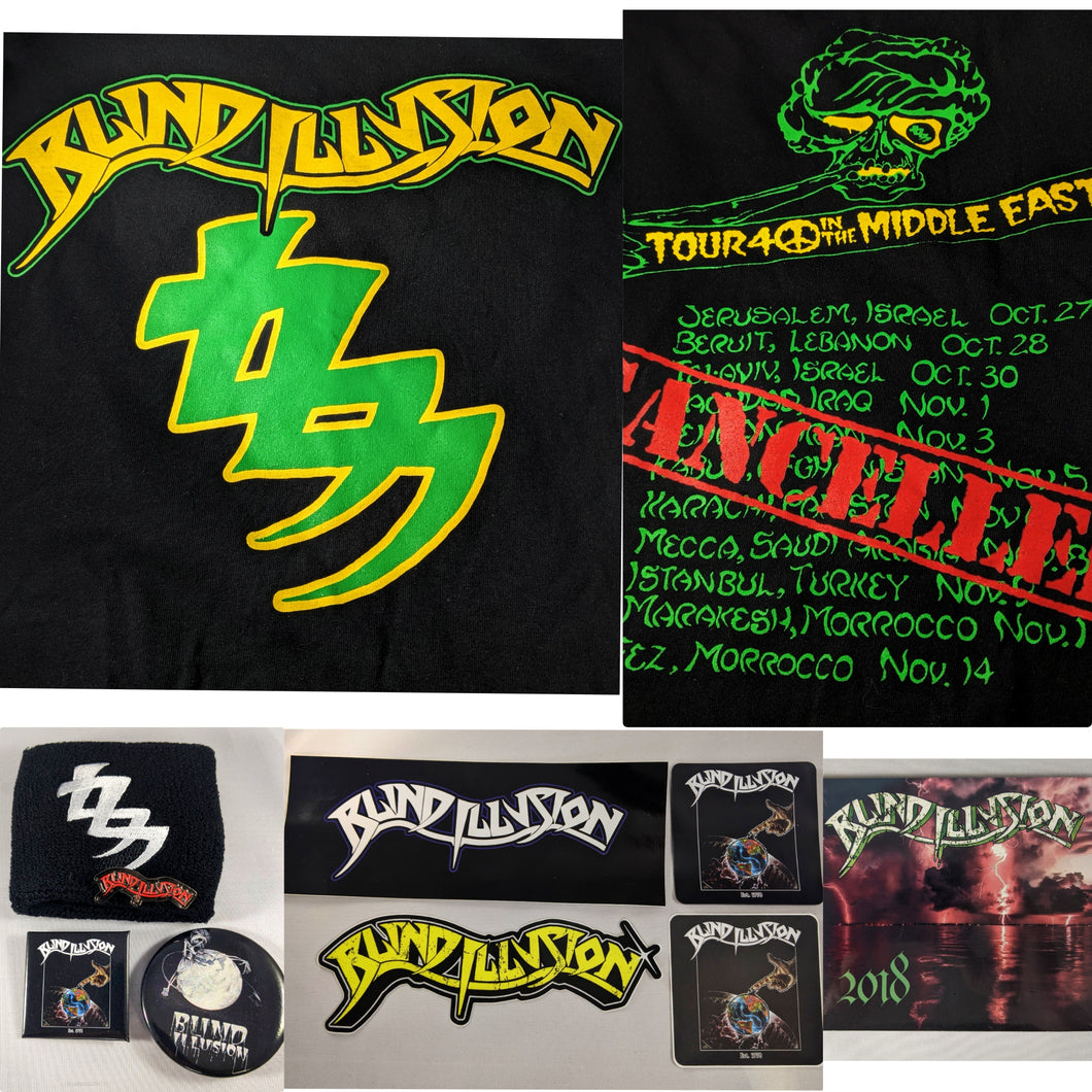 Blind Illusion Bundle Middle East Tour Shirt + 2018 EP + sticker + Pin + wristband
