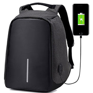Anti-theft Mens Womens Laptop Notebook Backpack + USB Charging Port Bag - wandearthlust