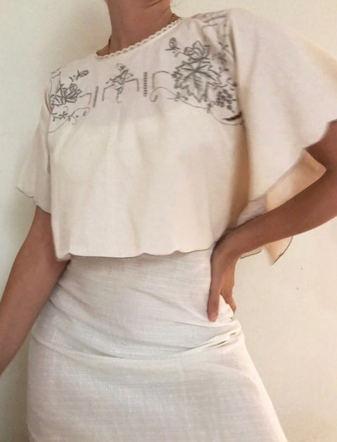 VINTAGE embroidered top - 1