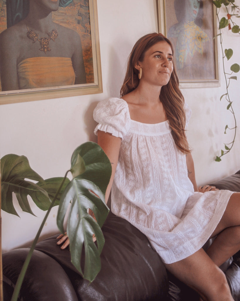 JANE dress • White anglaise