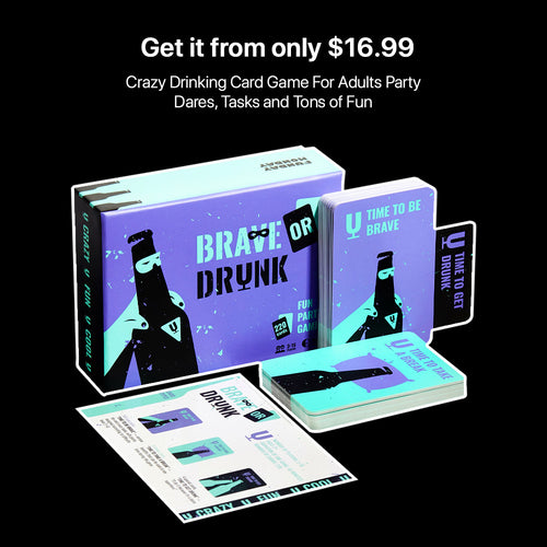 Funny drinking game for adults party Brave or Drunk cards box