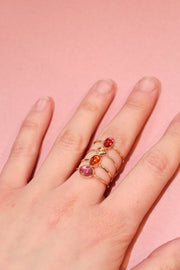 Oval Hessonite Garnet Goldsmithing Ring