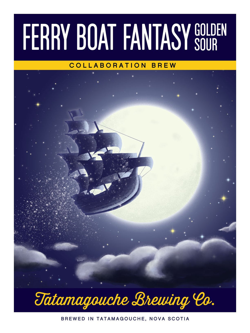 Ferry Boat Fantasy Poster