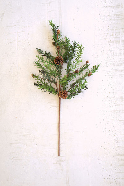 Artificial Christmas Spray with Pinecones