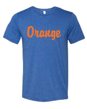 Orange Script Tri-Blend Tee