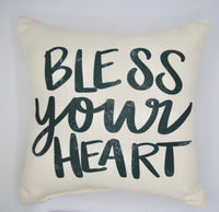Bless Your Heart Script Pillow
