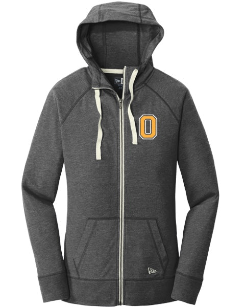 Ladies Black Sueded Cotton Full Zip Hoodie: Available in Olentangy and Liberty