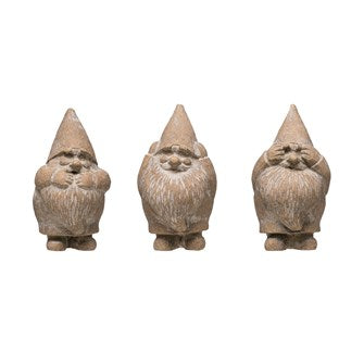 Cement Hear, Speak, See No Evil Gnome, 3 Styles