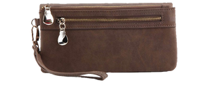 Leather Travel Clutch