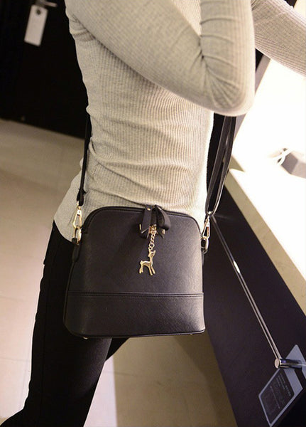 Black Leather Bag with Gold Hardware - 9Colors
