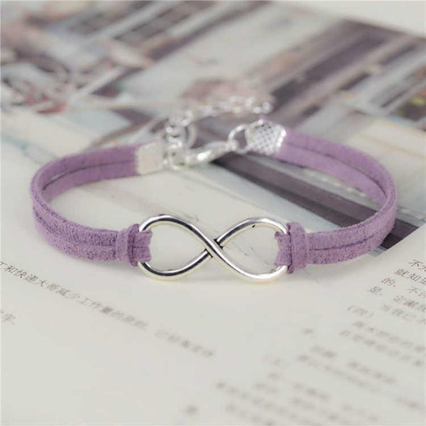 Leather Infinity Rope Bracelet