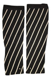 BLACK & WHITE STRIPES - BLACK BUTTONS