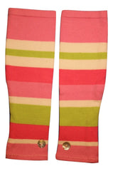 PINK & GREEN STRIPES - BUTTON