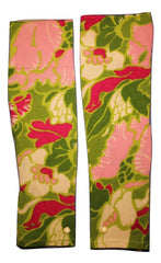 GREEN & PINK FLORAL - BUTTON