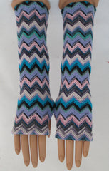 ITALIAN KNIT - BLUE ARM WARMERS